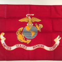 United States Marine Corps Flag: Semper Fidelis (Always Faithful) Made in U.S.A.