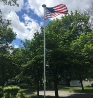 The Classic Flag pole: 21' foot pole with 3'x5' American Flag.