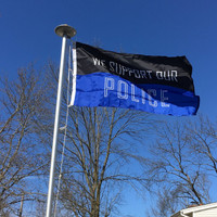 We Support Our Police Flag: 3'x5' Nylon. Made in U.S.A.