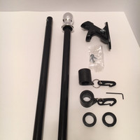 The Freedom 6' Flag Pole Kit: Pole, 2- position cast aluminum bracket and Never Furl Kit. Entirely 100% Made in U.S.A.