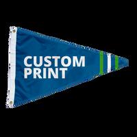 Custom 2.5'x4' Pennant Flags.