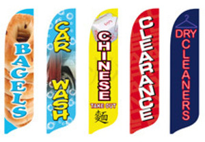 Assorted Retail Blade Flags