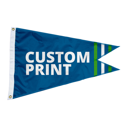 Custom 3'x5' Burgee Flags.