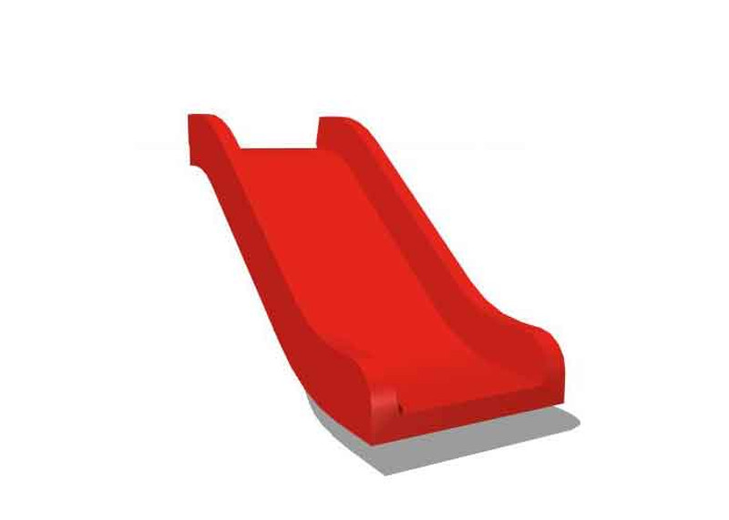 "Single bedway slide for 24"" deck height - 4 Sizes - 10+ Colors - USA Made"