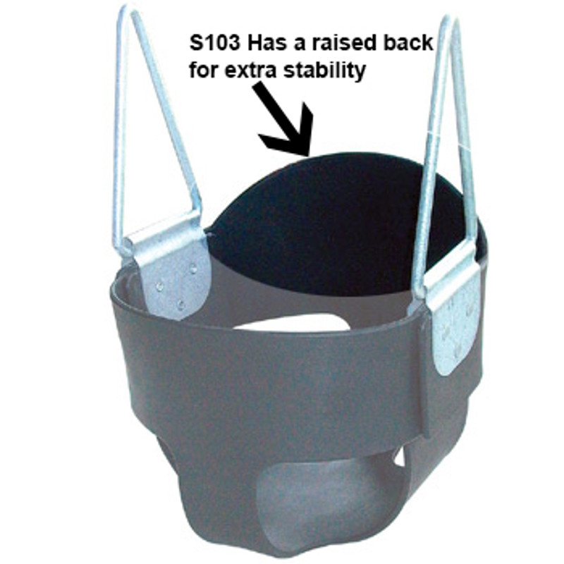 Commercial High Back Full Bucket Baby Swing Seat with Steel Core
