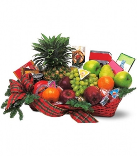 Holiday Fruit and Gourmet Basket