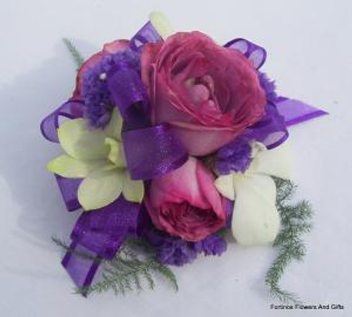 Lavender Mini Roses and White Orchids