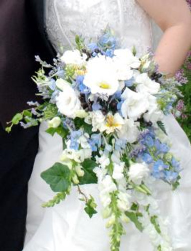 White Lizianthus Bouquet