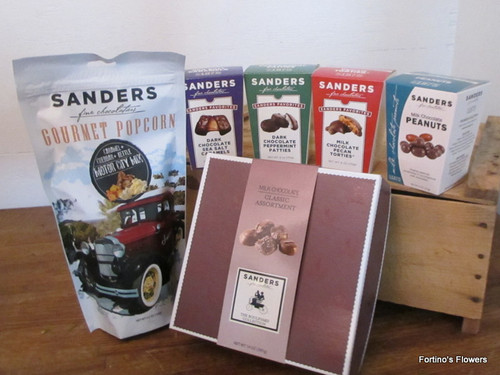 Sanders Chocolate and Popcorn Assortment