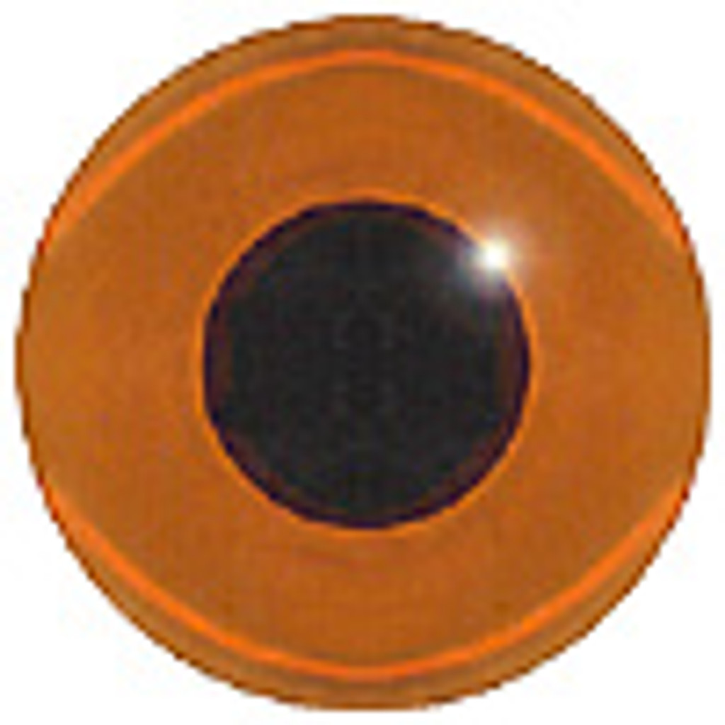 Front View of Amber or Topaz Glass Eye