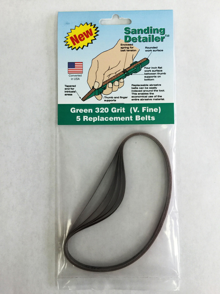 Sanding Detailer Stick Replacement Belts 80 grit in a package of 5.