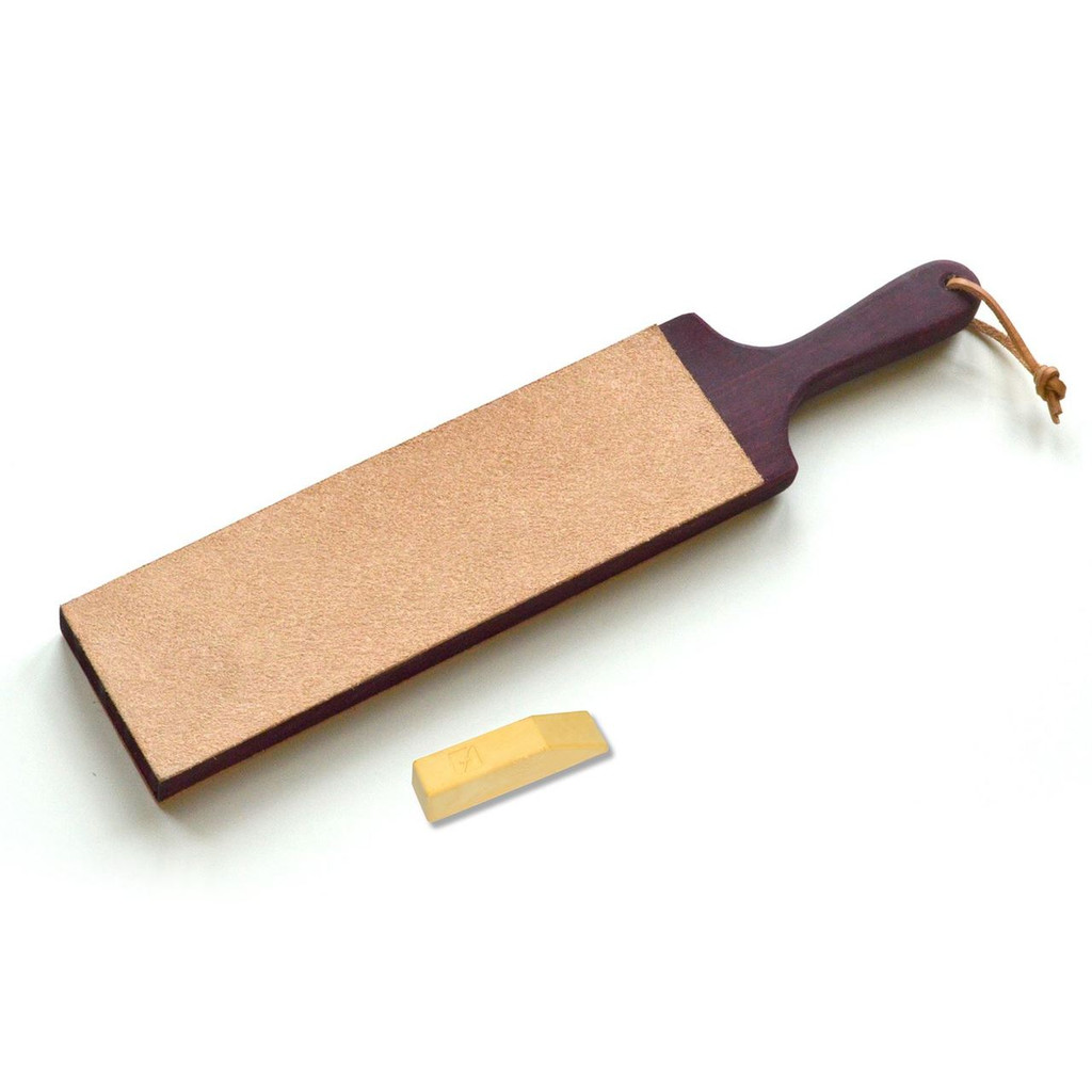 Flexcut Paddle Strop Dual Sided with Flexcut Gold shaprening compound.