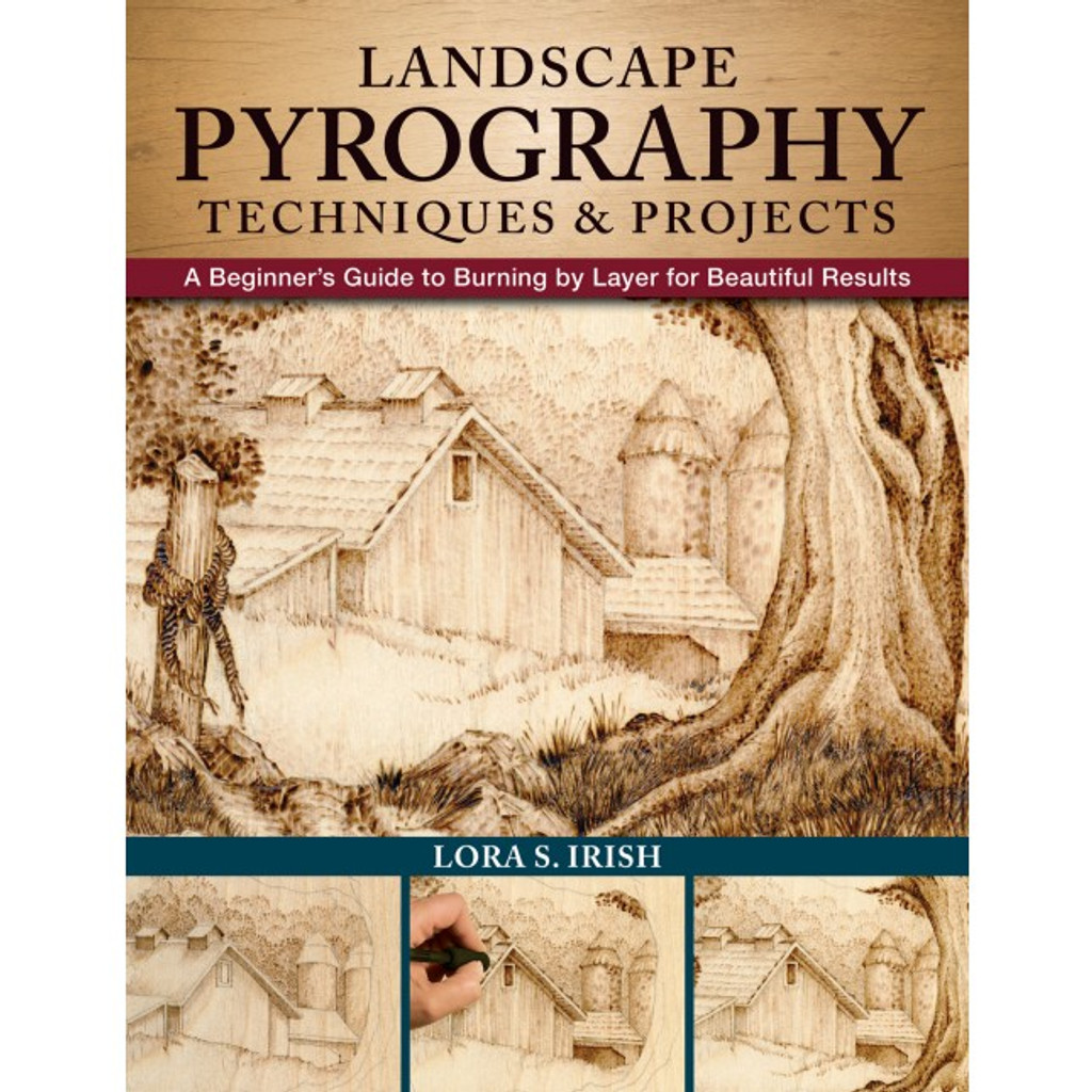 Cover of Landscape Pyrography Techniques & Projects book.