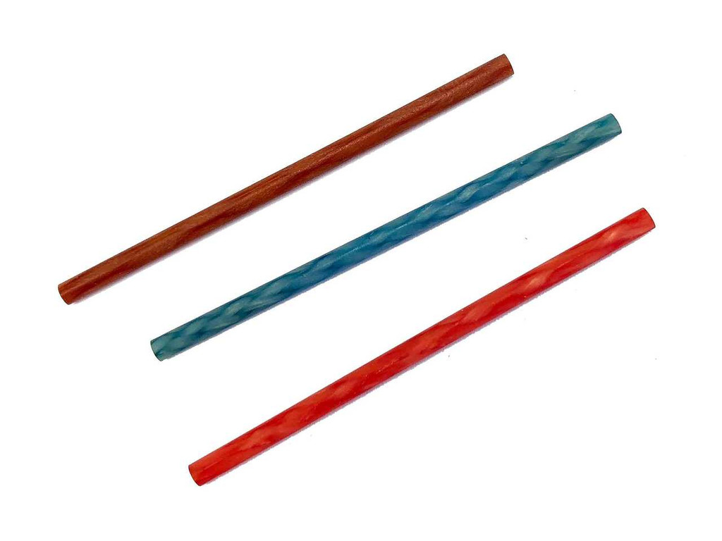 Ceramic texturing sticks shown in 300 grit, 800 grit and 1200 grit.