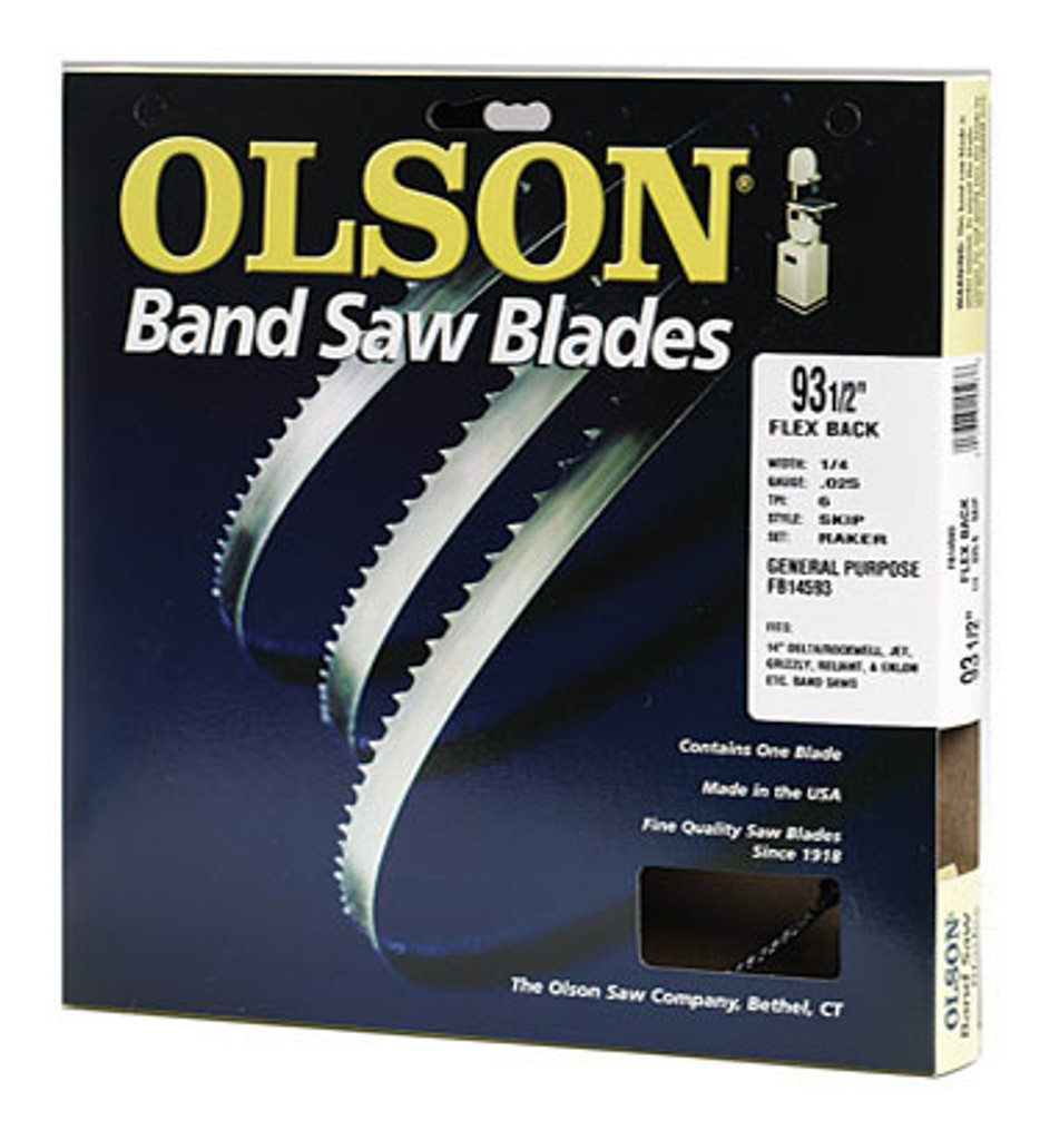 Olson Flex Back Band Saw Blade shown in original package.