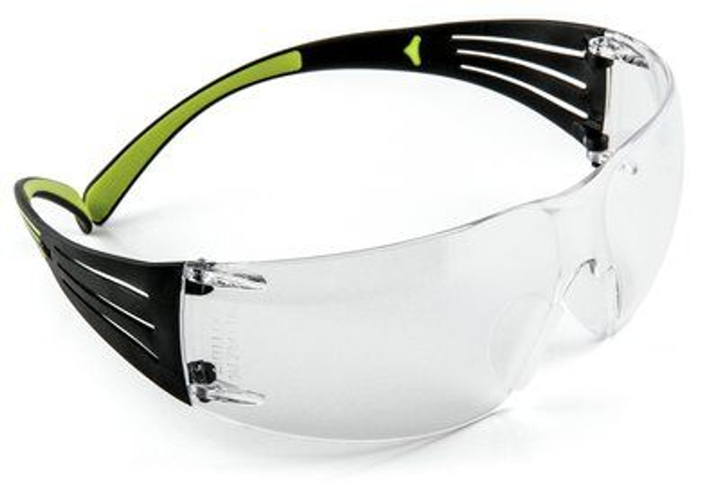 3M Secure Fit Safety Glasses with anti-fog, motion inspired, with contoured piping.