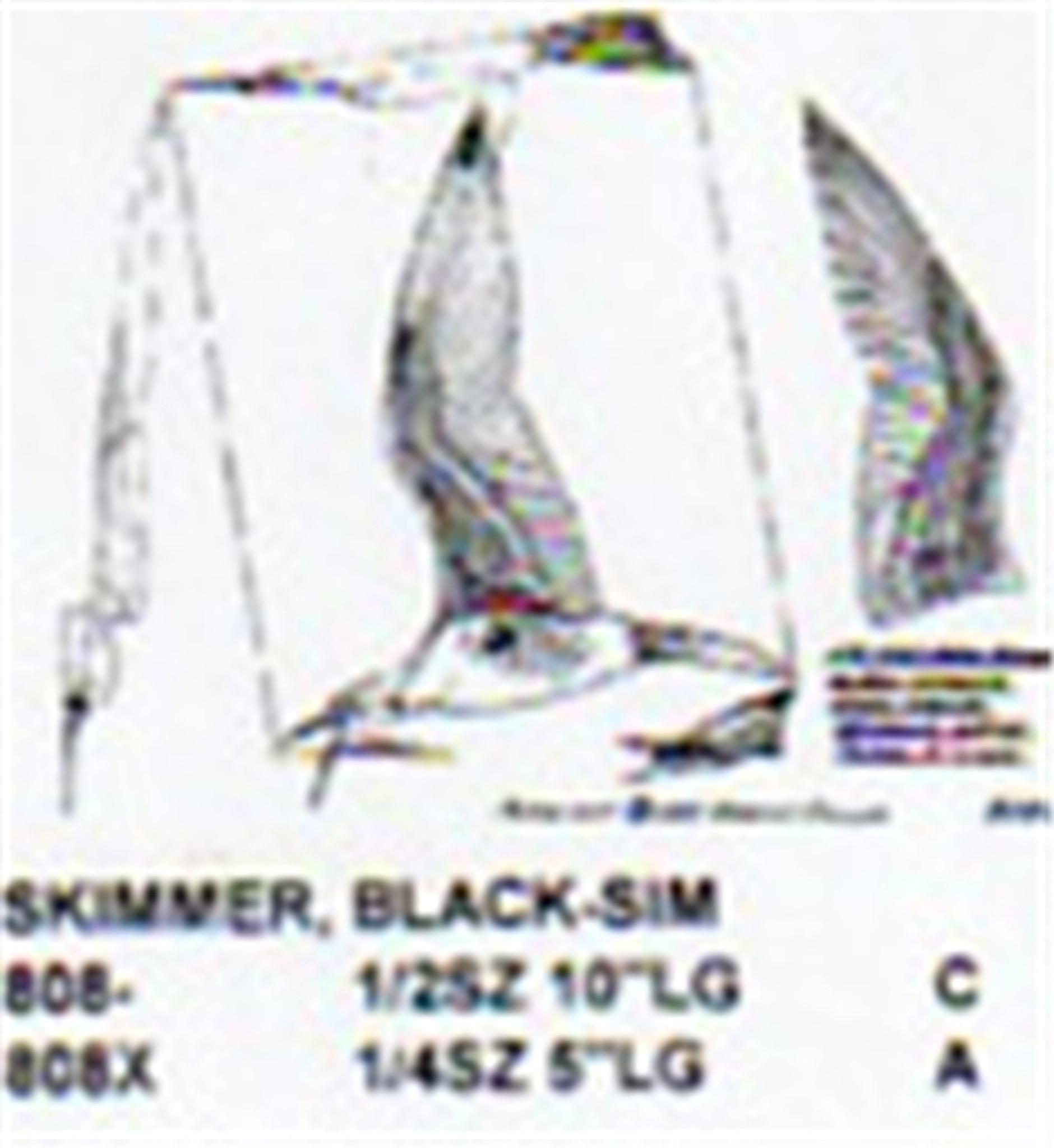 Black skimmer skimming water size carving pattern