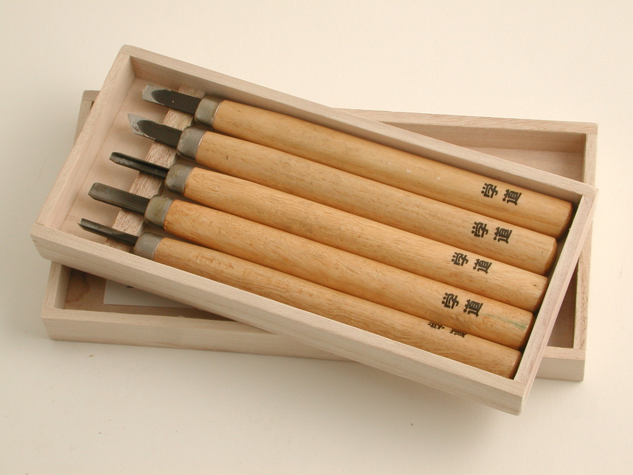 Japanese carving tools set of 5
