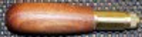 "Warren Walnut 5 1/4"" Pen Type Handle with 3 Way Brass Jaw"