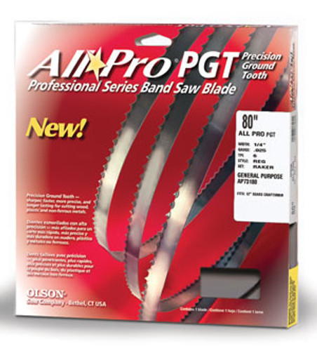 Olson All Pro PGT Band Saw Blades in the original package.