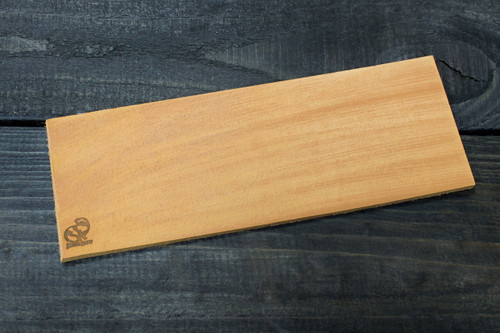 Beaver Craft Leather Polishing Strop showing top side of leather.
