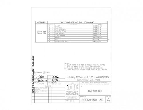 Repair Kit, Rego ES8452