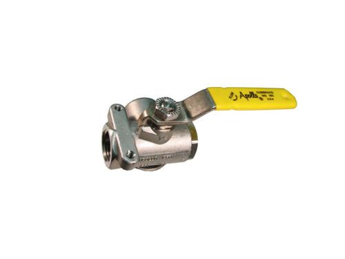 Apollo ball valve, 3 way, SS