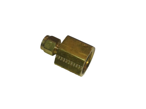 "Compression Fitting, 3000 psi, 1/4"" X 1/2"" FPT, Brass"