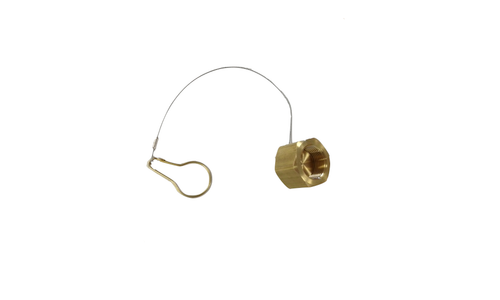 "Dust Cap, Brass, 1""-11 Thread"