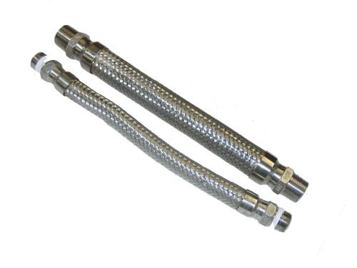 "Cryogenic Flexible SS hoses, set of 2, 12"" Long"