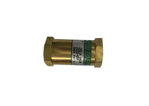 circle seal check valve