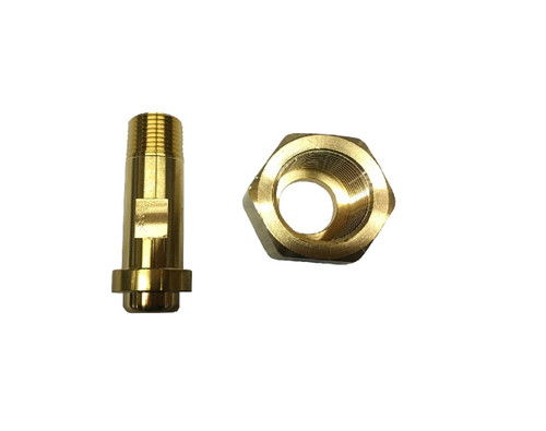 """Flare Nut and Tailpiece, 1""""-11 female thread X 1/2"""" MPT"""