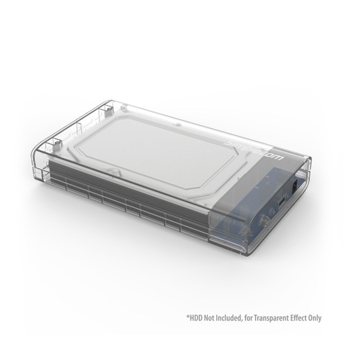 "Simplecom SE301 3.5"" SATA to USB 3.0 Hard Drive Docking Clear"