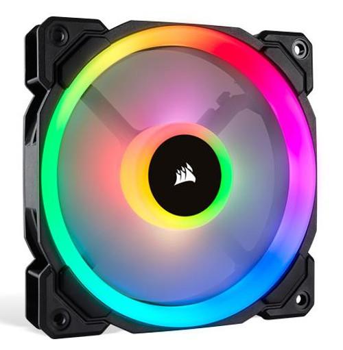 Corsair 120mm Case Fan : 120mm LL120 RGB, Dual Light Loop RGB LED PWM Fan, Single Pack