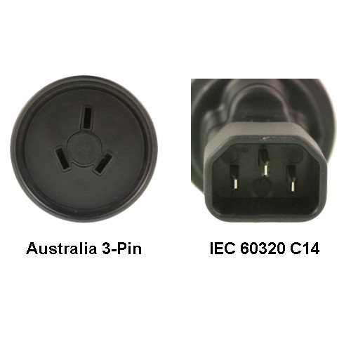 AU to IEC 60320 C14 Power Plug Adapter