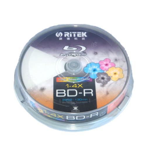 Ritek Blu-Ray BD-R 2X 25GB 130Min White Top  Printable 10pcs