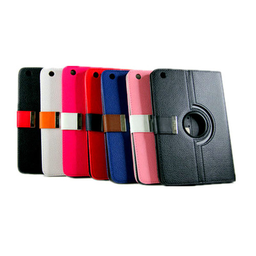 360 Rotational Leather Carry Case With Magnetic Flip for Mini iPad BK