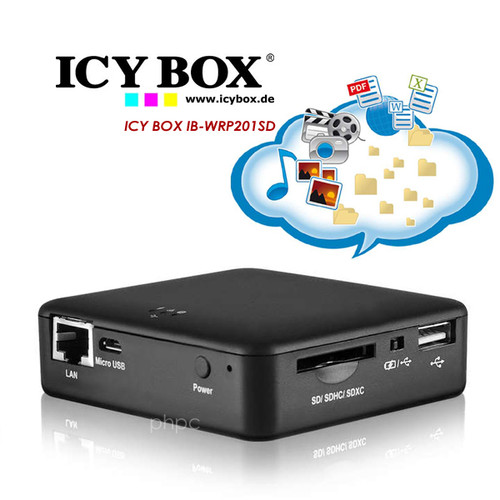 ICY BOX IB-WRP201SD WiFi-Station for SD cards, Access Point