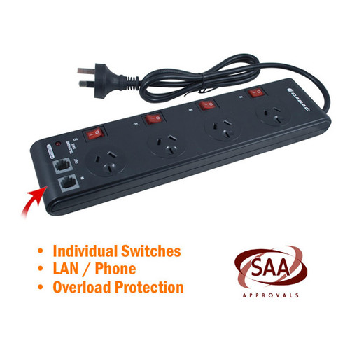 4 Way Powerboard with Individual Switches