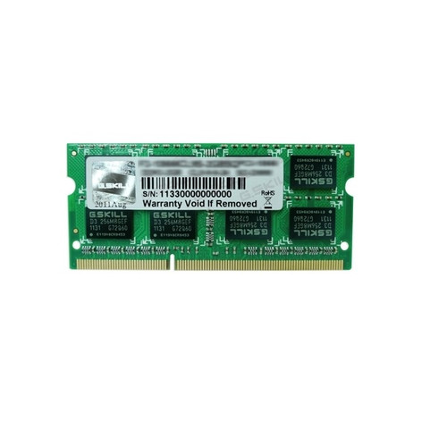 4Gb G.Skill DDR3-1600 Single Channel SODIMM F3-1600C11S-4GSL