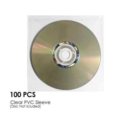 CD-DVD Clear PVC Sleeve Hold 1 Disc (100PCS/Pack)