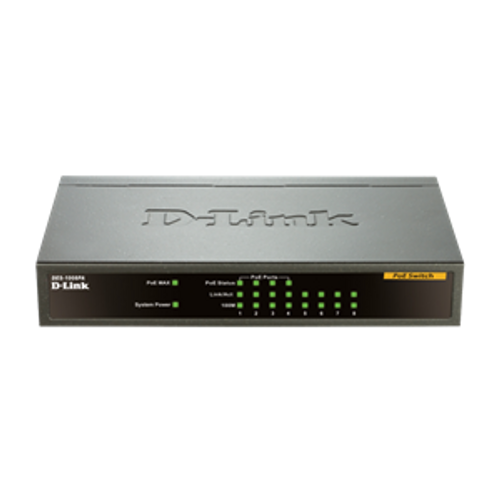 Dlink 8-Port 10/100Mbps Desktop PoE Switch