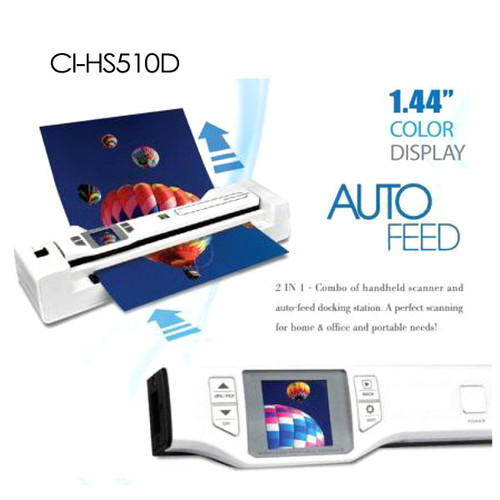 Digitalk 2-in-1 Combo Portable A4 1200DPI Photo & Document Scanner (CI-HS510D)