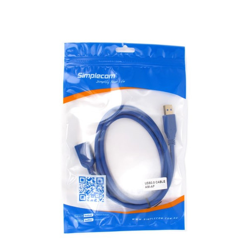 Simplcom CA315 1.5M 4FT USB 3.0 SuperSpeed Extension Cable Insulation