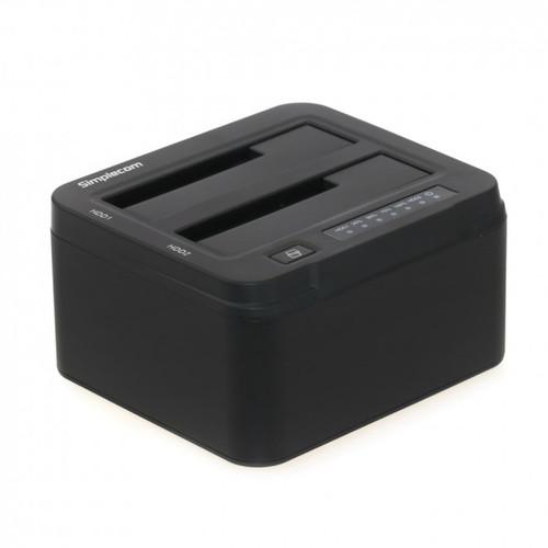 "Simplecom SD322 Dual Bay USB 3.0 Aluminium Docking Station for 2.5"" and 3.5"" SATA HDD Black"