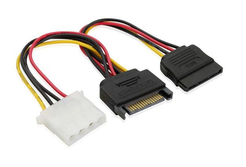 15CM SATA M  to Molex & SATA Power Cable