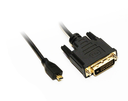 2M Micro HDMI to DVI-D Cable