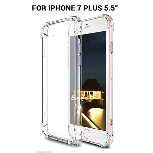 iPhone 7 PLUS  Shockproof Slim Soft Bumper Hard Back Case Cover Protector Clear color