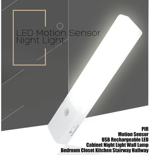 EL608 Rechargeable Infrared Motion Sensor Wall LED Night Light Torch (Cool)