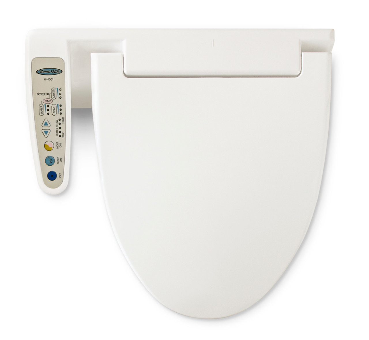 Feel Fresh HI-4001/0 bidet seat with heated air dry, and dual nozzles